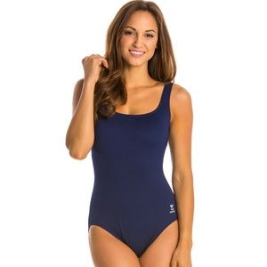 NWT TYR Solid Aqua Controlfit One Piece Swimsuit
